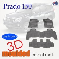 To FIt Prado 150 Series 2009 - 2012 KAGU CARPET (3 Rows)