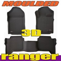 To Fit Ford Ranger PX, PX2, PX3 2011 - 2019 Dual Cab Front & Rear Kagu RUBBER