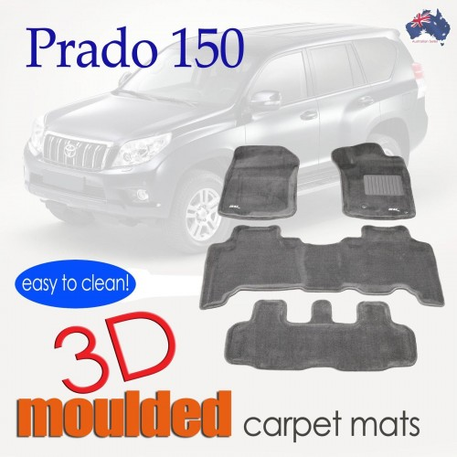 To FIt Toyota Prado 150 Series 2009 - 2012 KAGU CARPET (3 Rows)