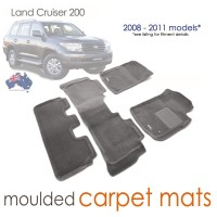 To Fit Toyota Land Cruiser 200 Altitude, VX, Sahara 2007 - 2012 KAGU CARPET (3 Rows)