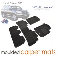 To Fit Toyota Land Cruiser 200 GX / GXL 2013 - 2020 3D KAGU CARPET (3 Rows)
