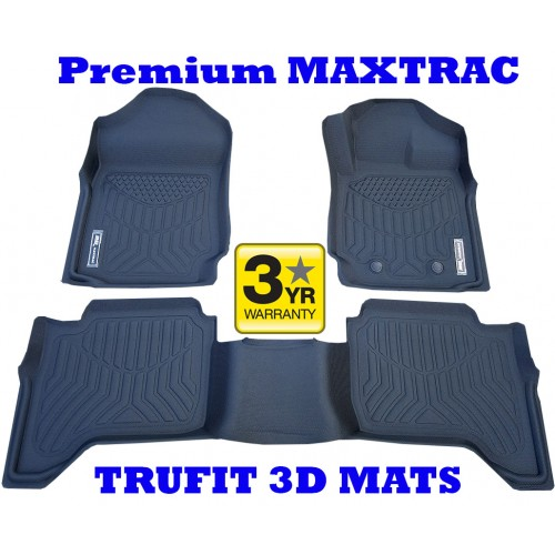 To FIt Ford Ranger PX, PX2, PX3 Dual Cab Front & Rear Maxtrac RUBBER