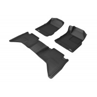 To Fit Holden Colorado Dual Cab 2012 - 2015 (NO FLOOR HOOKS) Front & Rear Kagu Rubber