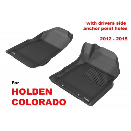 To Fit Holden Colorado 7 Wagon 2012-2015 (NO FLOOR HOOKS) Front Pair Kagu Rubber