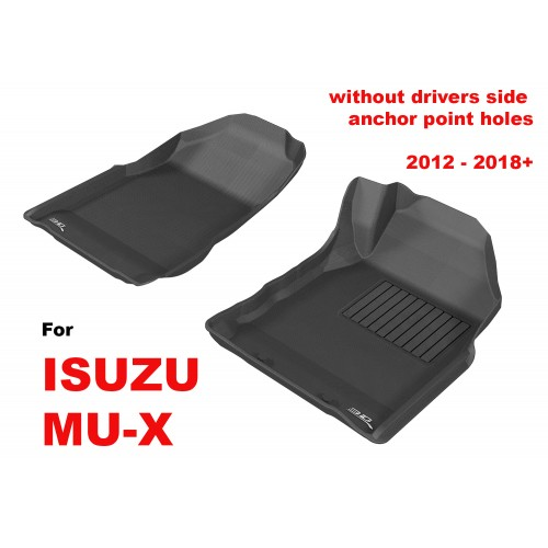 To Fit ISUZU MU-X 2012 - 2019 (NO FLOOR HOOKS) Front Pair Kagu Rubber