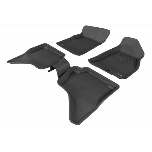 To Fit Ford Courier Dual Cab 1999 - 2006 Front & Rear 3D Kagu Rubber