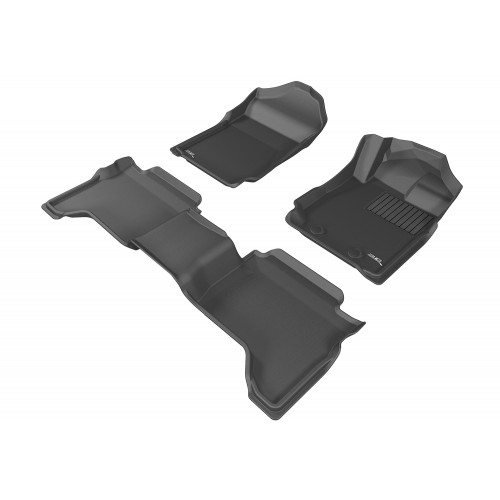 To Fit Mazda BT50 Dual Cab UP, UR 2012 - 2020 Front & Rear 3D Kagu Rubber