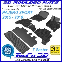 To Fit Mitsubishi Pajero Sport 2015 - 2019 MAXTRAC RUBBER (3 rows)