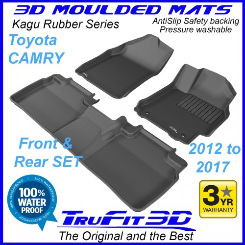To Fit Toyota Camry XV50 - 2012 - 2017  Front & Rear Kagu Rubber