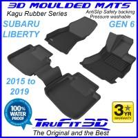 To Fit Subaru Liberty 2015 - 2020  Front & Rear 3D Kagu rubber