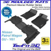 To Fit Nissan Patrol GU Y61 Wagon Front & Rear 3D Maxtrac RUBBER