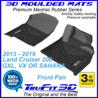 To Fit Toyota Land Cruiser 200 2013 - 2020 3D MAXTRAC Rubber Front Pair