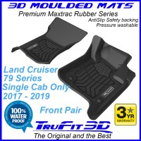 To Fit Toyota Land Cruiser 79 Series Single Cab 2017 -2019 - Front Pair Maxtrac RUBBER