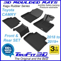To Fit Toyota Camry XV70 - 2018 - 2019+  Front & Rear Kagu Rubber