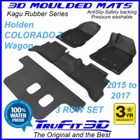 To Fit Holden Colorado 7 Wagon 2015 - 2017 3-Row Set Kagu Rubber