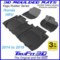 To Fit Honda HRV 2014 - 2019 Front & Rear Kagu Rubber