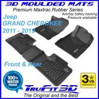 To Fit Jeep GRAND Cherokee  Front & Rear 3D Maxtrac RUBBER