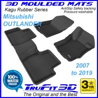 To Fit Mitsubishi Outlander 2007 - 2020 KAGU Rubber Front & Rear