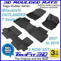 To FIt Mitsubishi Outlander 2007 - 2019 KAGU Rubber 3 Rows