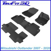 To FIt Mitsubishi Outlander 2007 - 2019 KAGU Rubber 3 Rows
