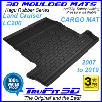 To Fit Toyota Land Cruiser 200 2007 - 2020 KAGU Rubber Cargo Mat