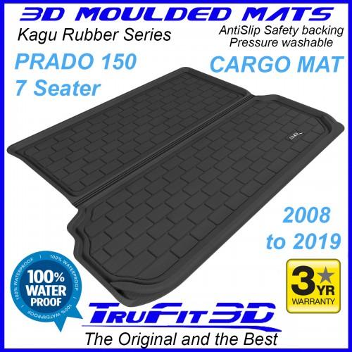 To Fit Toyota Prado 150 Series 2009 - 2020 3D KAGU Rubber Cargo Mat