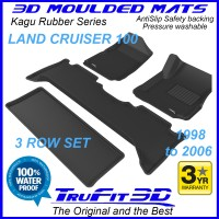 To FIt Toyota Land Cruiser 100 1998 - 2007 KAGU Rubber (3 Rows)