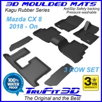 To Fit Mazda CX-8 -2018 - 2019  3 Rows 3D Kagu Rubber