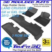 To Fit Toyota Land Cruiser 200 GX - GXL Only 2013 - 2019 KAGU Rubber (3 Rows)
