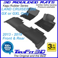 To Fit Toyota Land Cruiser 200 GX - GXL Only 2013 - 2019 KAGU Rubber Front & Rear