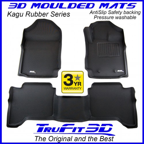 To Fit Ford Ranger Dual Cab PX, PX2, PX3 2011 - 2020 Front & Rear Kagu RUBBER