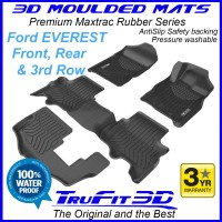 To Fit Ford Everest 3D MAXTRAC RUBBER (3 rows)