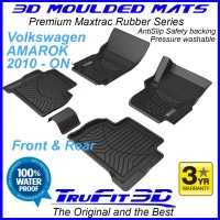 To Fit VW AMAROK Dual Cab 2010 - 2020 Front & Rear 3D Maxtrac RUBBER