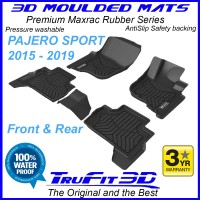 To Fit Mitsubishi Pajero Sport 2015 - 2019 3D MAXTRAC RUBBER Front & Rear
