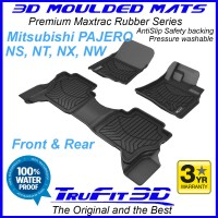 To Fit Mitsubishi Pajero NS, NT, NX, NW 2006 - 2020 3D MAXTRAC RUBBER Front & Rear