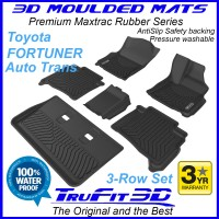 To Fit Toyota Fortuner AUTO 2015 - 2019  3 Row Set 3D MAXTRAC RUBBER