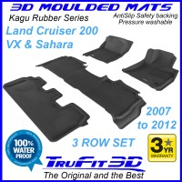To Fit Toyota Land Cruiser 200 Altitude, VX, Sahara 2007 - 2012 KAGU Rubber (3 Rows)