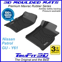To Fit Nissan Patrol GU Y61 Wagon Front Pair 3D Maxtrac RUBBER
