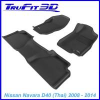 To Fit Nissan Navara Dual Cab 2008 - 2014 D40 Thai Front & Rear 3D Kagu RUBBER