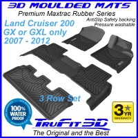 To Fit Toyota Land Cruiser 200 GX / GXL 2007 - 2012 MAXTRAC Rubber (3 Rows)