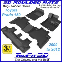 To FIt Toyota Prado 150 Series 2009 - 2012 KAGU Rubber (3 Rows)