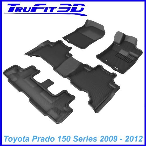 To FIt Toyota Prado 150 Series 2009 - 2012 KAGU Rubber (3 Rows)