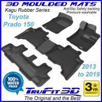 To FIt Toyota Prado 150 Series 2013 - 2019 KAGU Rubber (3 Rows)