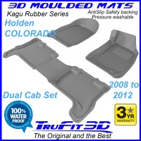 To Fit Holden Colorado Dual Cab 2008 - 2012 Front & Rear Kagu Rubber