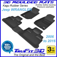 To Fit Jeep Wrangler JK 2006 - 2016 Front & Rear 3D Kagu RUBBER