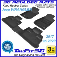 To Fit Jeep Wrangler JK 2017 - On Front & Rear 3D Kagu RUBBER