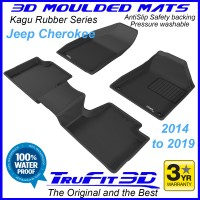 To Fit Jeep Cherokee 2014 - 2019 Front & Rear 3D Kagu RUBBER