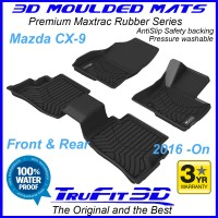To Fit Mazda CX9 2016 - 2020 Front & Rear 3D Maxtrac RUBBER mats