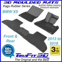 To Fit BMW X5 2013 - 2018 (F15) Front & Rear 3D Kagu RUBBER