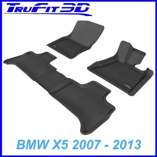 To Fit BMW X5 2007 - 2013 (E70) Front & Rear 3D Kagu RUBBER